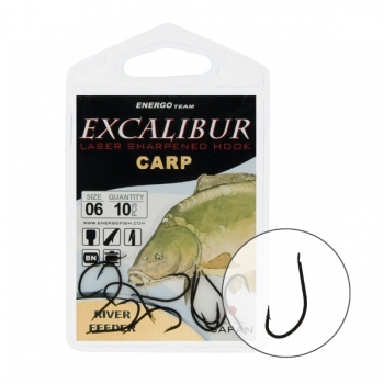 Carlige Excalibur River Feeder Black